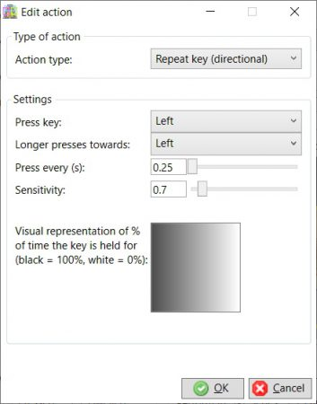 Repeat key directional action